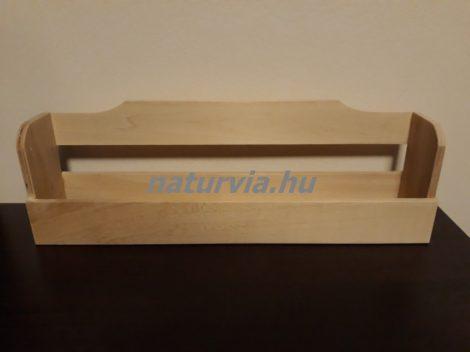 Fa fűszertartó polc, fűszertároló, fűszeres (38,5*7,5*11,5 cm), NATÚR