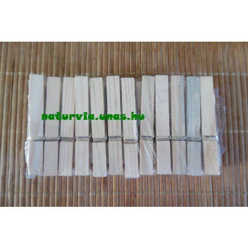 Fa csipesz, natúr 7 cm (24 db / csomag)