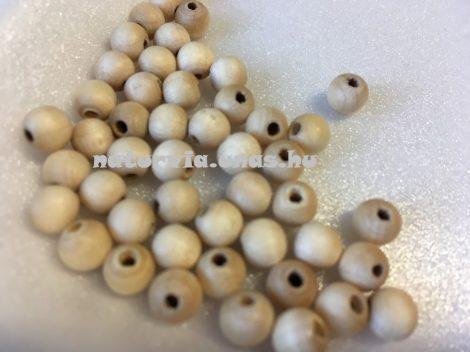 Fagolyó, fa golyó, lyukas 6 mm (10 db / csomag)