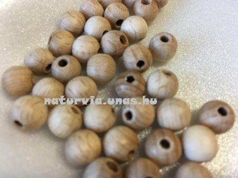 Fagolyó, fa golyó, lyukas 8 mm (10 db / csomag)