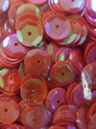 Dekorációs flitter, tányéros (kerek) 8 mm, fényes NARANCS (10 g)