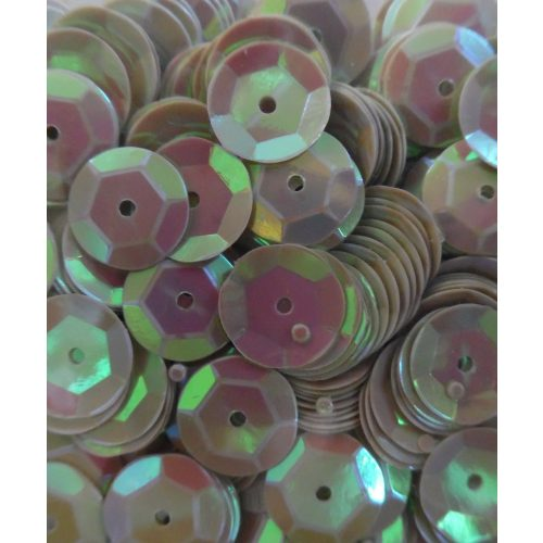 Dekorációs flitter, tányéros (kerek) 8 mm, fényes EZÜST (10 g)