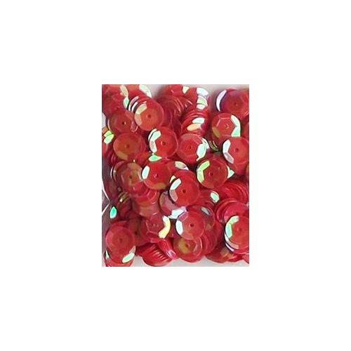 Dekorációs flitter, tányéros (kerek) 8 mm, fényes PIROS (10 g)