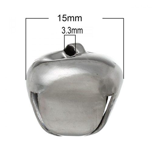 Csengő, csengettyű (d=15 mm) EZÜST színű (5 db/ csomag)