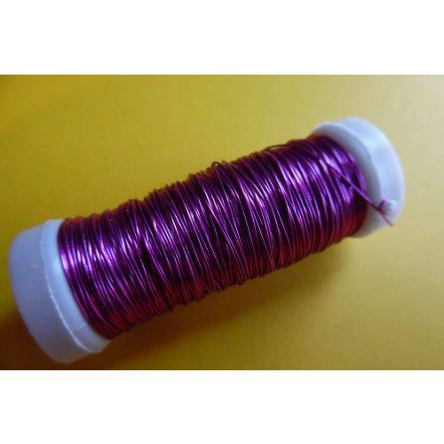 Gyöngyfűző drót, színes, 30 m / tekercs (0,37 mm) PINK