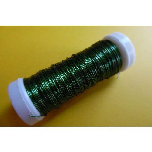 Gyöngyfűző drót, színes, 30 m / tekercs (0,37 mm) ZÖLD