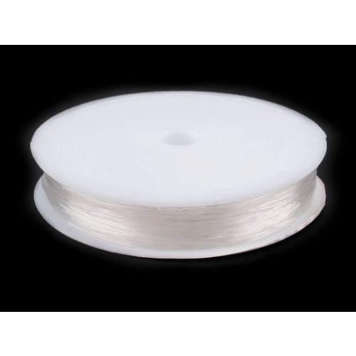 Gumis damil gyöngyfűzéshez, színtelen (0,4 mm kb. 26 m) 1 tekercs