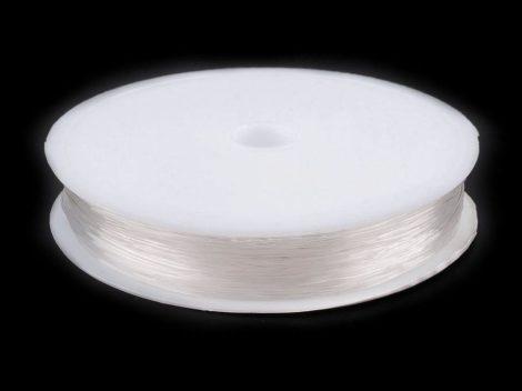 Gumis damil gyöngyfűzéshez, színtelen (0,6 mm kb. 10 m) 1 tekercs