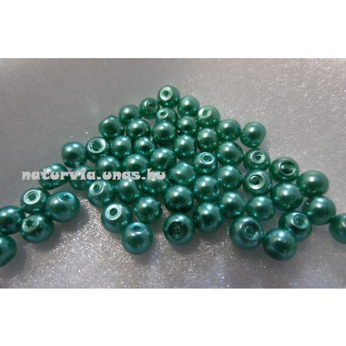 Tekla üveggyöngy, 4 mm ZÖLD / TÜRKIZ (50 db / csomag)