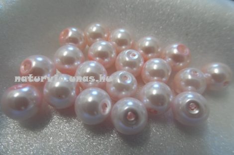 Tekla üveggyöngy, 8 mm RÓZSASZÍN (20 db / csomag)