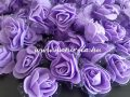 habrózsa / polifoam rózsa fej, LILA (3 cm) - DARABRA!