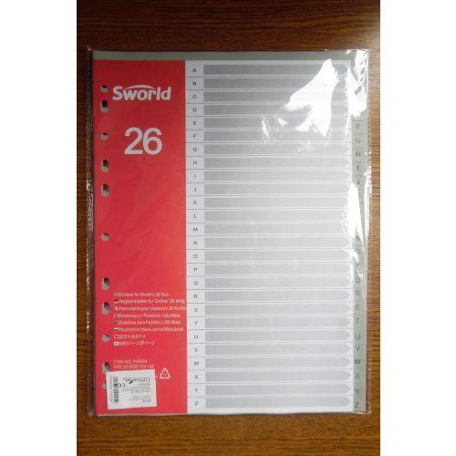 Regiszter papír (A-Z) A4, 26 lapos, 11 lyukas