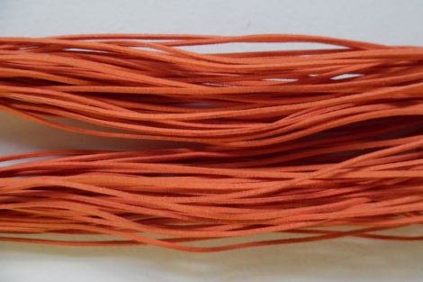 Szintetikus bőrszál, NARANCSSÁRGA 2 mm*75 cm