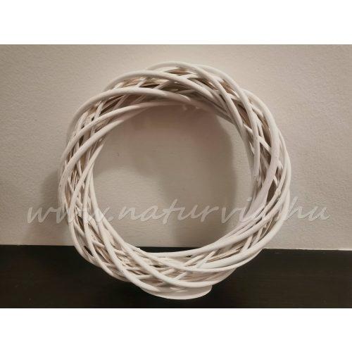 Fonott vessző koszorú alap, koszorúalap VESSZŐ (25 cm) FEHÉR