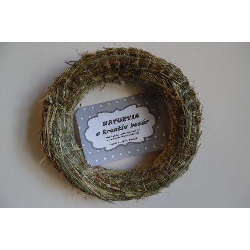 Szalmakoszorú alap, koszorúalap SZALMA (25 cm)
