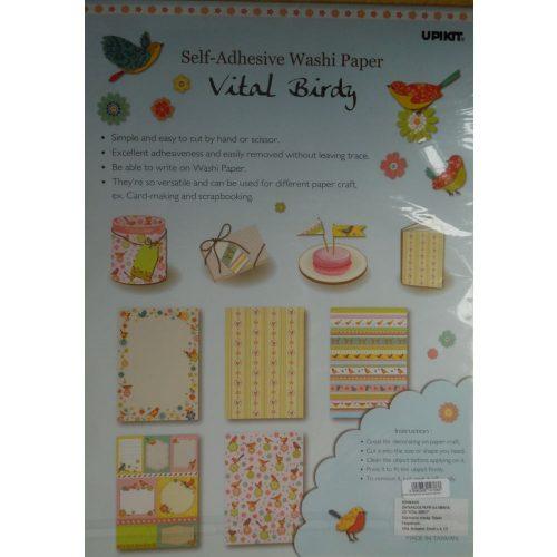 """""""VITAL BIRDY"""" öntapadós papír, madár / madaras minták (1 csomagban 5-féle) A4"""
