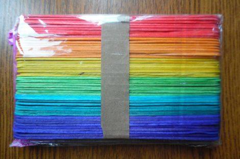 Fa pálcika, spatula, SZINES (6 féle szín, 50 db / csomag) 150*18 mm NAGY