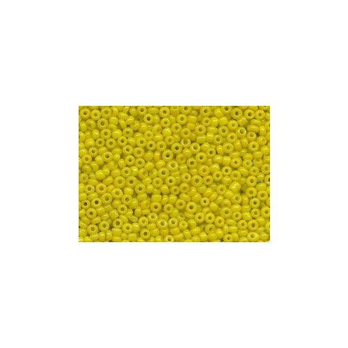 Kásagyöngy, matt 2 mm, CITROMSÁRGA (10 g)