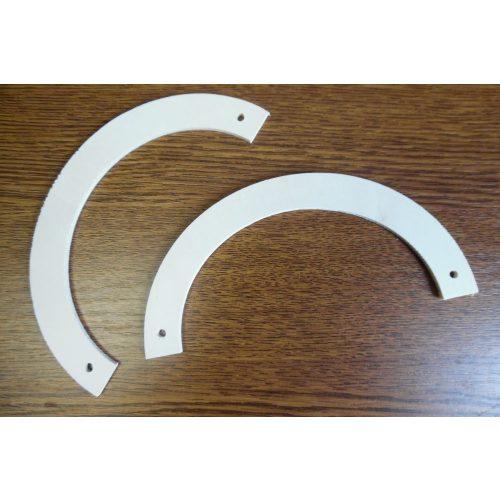 fa táskafül / táska fül (1 pár), félkör alakú