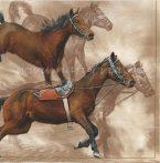 Szalvéta ÁLLAT, vágtázó lovak