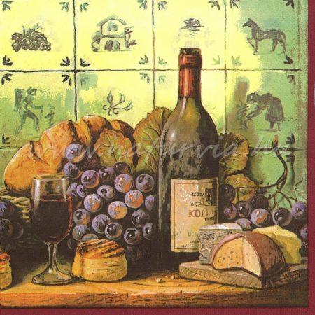 Szalvéta GYÜMÖLCS, SZŐLŐ 03, szőlő és bor