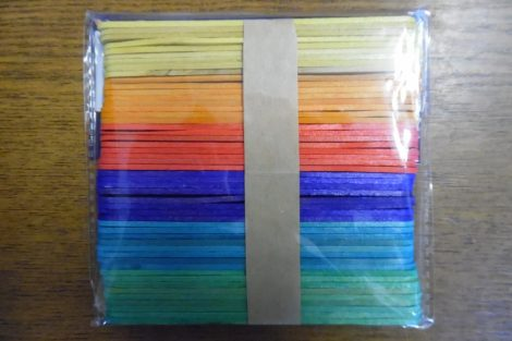 Fa pálcika, spatula, SZÍNES (6 féle szín, 50 db / csomag) 114*10 mm KÖZEPES