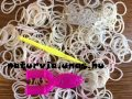 Gumikarkötő / gumi karkötő (LOOM BAND) készítő készlet, FEHÉR