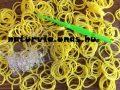 Gumikarkötő / gumi karkötő (LOOM BAND) készítő készlet, CITROMSÁRGA