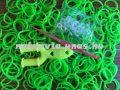 Gumikarkötő / gumi karkötő (LOOM BAND) készítő készlet, ZÖLD