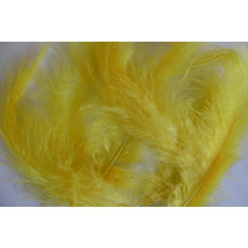 madártoll, CITROMSÁRGA (15 db / csomag)  kb. 10 cm