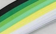 quilling papírcsíkok, papírcsík készlet - ZÖLD árnyalatok (300 db, 18 cm * 5 mm)