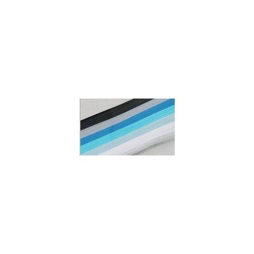 quilling papírcsíkok, papírcsík készlet - KÉK árnyalatok (300 db, 18 cm * 5 mm)