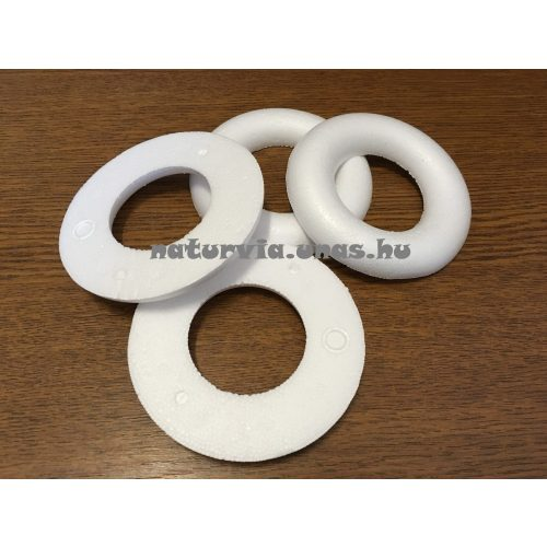 polisztirol (hungarocell) FÉL koszorú, 10 cm