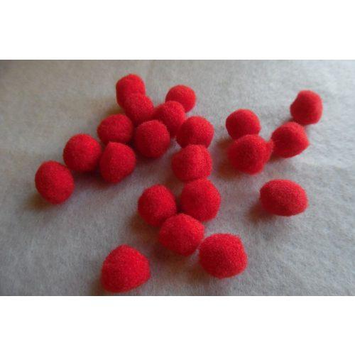 Pom-pom csomag 10 mm, PIROS (10 db / csomag)