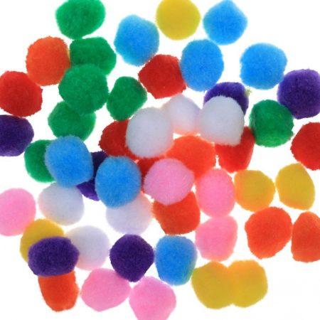 Pom-pom csomag 25 mm, VEGYES (10 db / csomag)