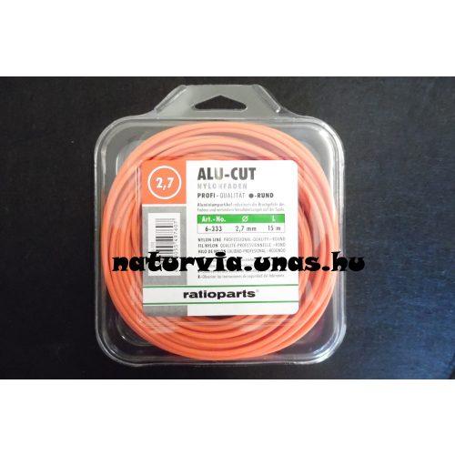 RATIOPARTS ALU-CUT fűnyíró / fűkasza / szegélynyíró damil, vágószál (hatszög) 2,7 mm, (hossza: 15 m)