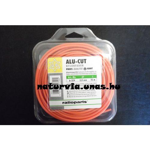 RATIOPARTS ALU-CUT fűnyíró / fűkasza / szegélynyíró damil, vágószál (hatszög) 3 mm, (hossza: 15 m)
