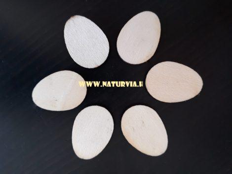 fa figura, tojás (lézervágott), KICSI, gravírozás nélkül (6 db/csomag)