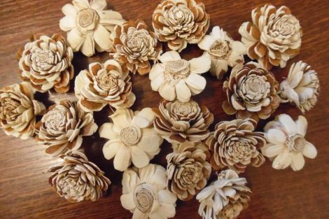 Szárított növény, MING BOGLÁRKA fej 4 cm, CIRMOS NATÚR (20 db / csomag)