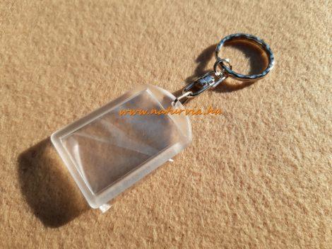 műanyag, szerelt kulcstartó alap, fényképtartós TÉGLALAP alakú MINI