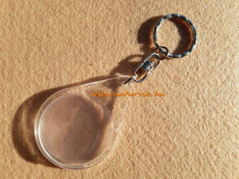 műanyag, szerelt kulcstartó alap, fényképtartós CSEPP alakú