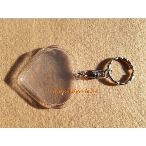 műanyag, szerelt kulcstartó alap, fényképtartós SZÍV alakú