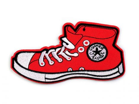 Ruhára vasalható textil matrica, folt - cipő / tornacipő
