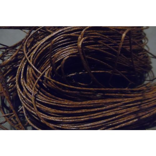viaszolt szál, viaszos zsinór, kordszál (1 mm vastag) BARNA (5 m)