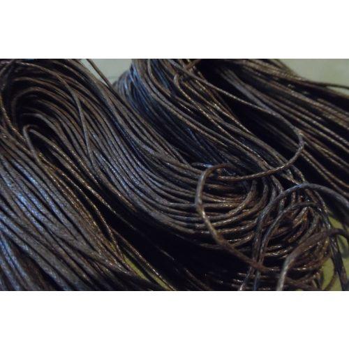 viaszolt szál, viaszos zsinór, kordszál (1 mm vastag) SÖTÉT BARNA (5 m)