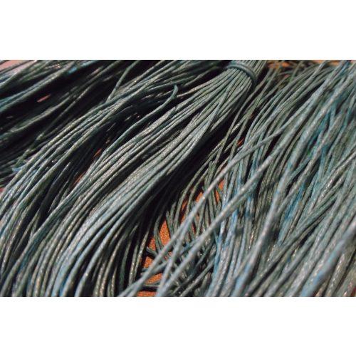 viaszolt szál, viaszos zsinór, kordszál (1 mm vastag) KÉKES ZÖLD (5 m)