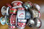 karácsonyi dekorációs szalagok (textil)