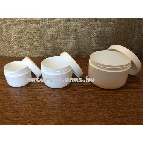 kozmetikai tégely menetes fedéllel (200 ml), FEHÉR